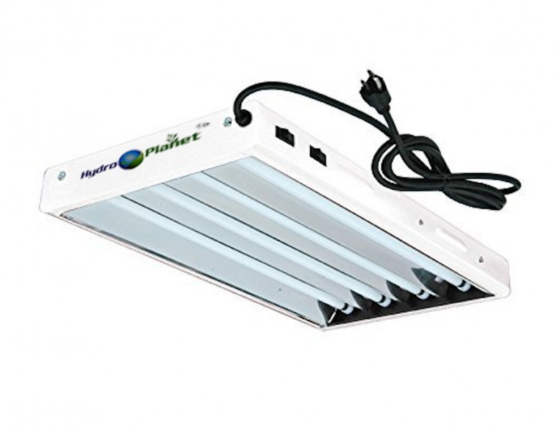 Hydro Planet T5 2ft 4lamp Fluorescent Ho Bulbs Included For Indoor Horticulture Gardening Grow Lights Fixtures 4 Lamp