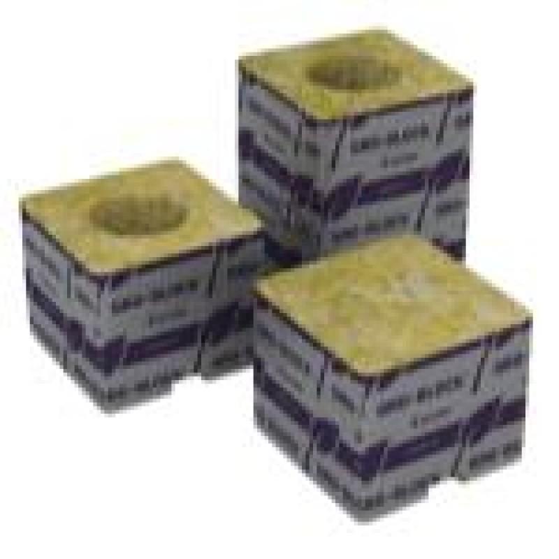 Grodan Delta 4 Block 3 in x 3 in x 2.5 in w/ Hole (15/Plt)