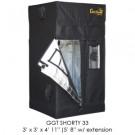 "SHORTY Gorilla Grow Tent, 3' x 3', w/9"" Extension Kit"