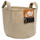 Dirt Pot Flexible Portable Planter, Tan, 150 gal, with handles