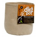 Dirt Pot Flexible Portable Planter, Tan, 2 gal, no handles
