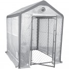 Saturday Solution Secure Grow Chain Link Greenhouse, 8' x 6'