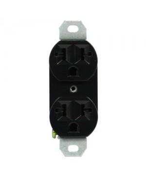 120/240 20A-Universal Duplex Outlet Black