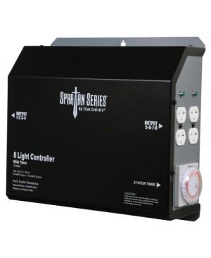 Titan Controls Spartan Series Metal 8 Light Controller 240 Volt w/ Timer - Universal Outlets (4/Cs)