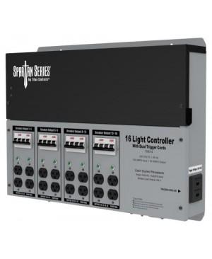 Titan Controls Spartan Series Metal 16 Light Controller 240 Volt w/ Dual Trigger Cords - Universal Outlets