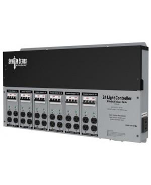 Titan Controls Spartan Series Metal 24 Light Controller 240 Volt w/ Dual Trigger Cords - Universal Outlets