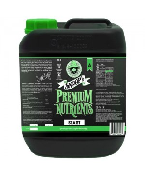 Snoop's Premium Nutrients Start A 5 Liter (Soil, Hydro Run To Waste and Hydro Recirculating) (4/Cs)