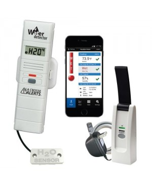 La Crosse Alerts Remote Temperature and Humidity Monitoring System w/ Water Leak Detector