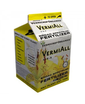 Vermicrop VermiAll Purpose Broad Spectrum Fertilizer 4 lb (4/Cs)