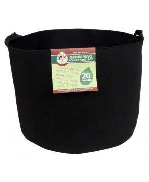 Gro Pro Premium Round Fabric Pot w/ Handles 20 Gallon - Black (42/Cs)