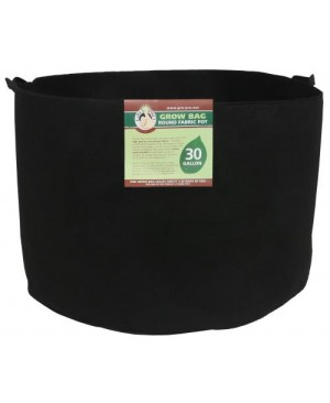 Gro Pro Premium Round Fabric Pot w/ Handles 30 Gallon - Black (30/Cs)