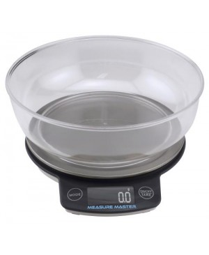 Measure Master Digital Scale w/ 1.88 L Bowl (3kg) - 3000g Capacity x 0.1g Accuracy (40/Cs)