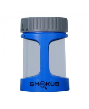 Smokus Focus Stash Display Container w/ LED Light and Dual Magnification - Blue Steel (Blue/Gray) (8/Cs)