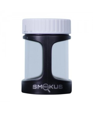 Smokus Focus Stash Display Container w/ LED Light and Dual Magnification - Tuxedo (Black/White) (8/Cs)