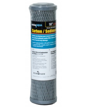 "Active Aqua 10"" Carbon and Sediment Combo Filter"