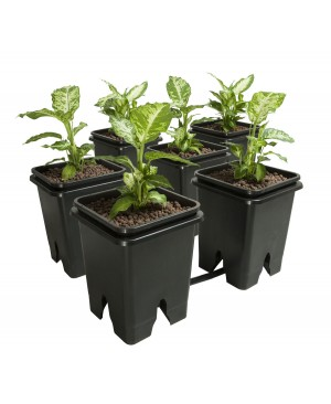 Active Aqua Grow Flow 2.0 Expansion Kit w/six 5 gal Square Pots
