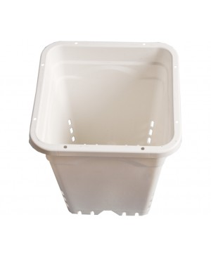"Active Aqua 12"" x 12"" Square White Pot, 12"" Tall, case of 24"
