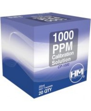 HM Digital TDS/EC Calibration Solution, 1000 ppm 20 mL, 20 Pack