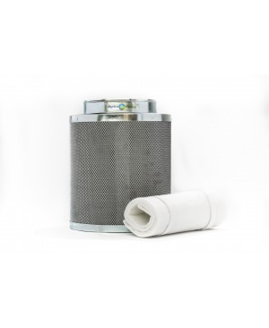 Hydroplanet 8-Inch Hydroponic Air Carbon Filter Charcoal for Inline Fan