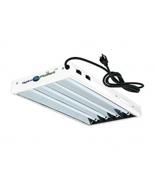 HYDRO PLANET T5 2ft 4lamp Fluorescent HO Bulbs Included for Indoor Horticulture Gardening T5 Grow Lights Fixtures (4 Lamp, 2ft)