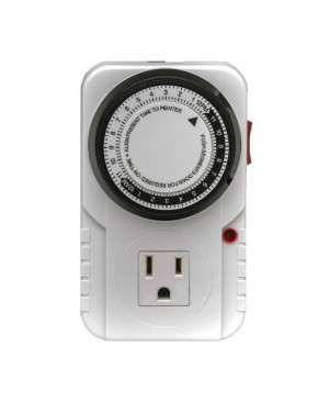 Hydroplanet 120 Volt 24 Hour Heavy Duty Plug-in Mechanical Timer