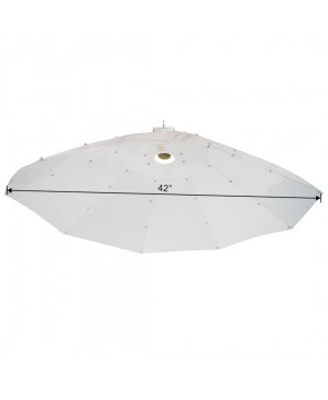 "Hydroplanet 42"" Vertical Umbrella Parabolic Grow Light Reflector"