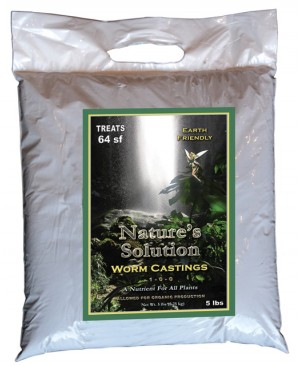 Nature's Solution Organic Worm Castings, 5 lbs