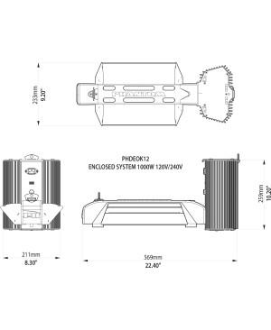 Phantom 50 Series, 750W, 120V/240V DE Open Lighting System with USB Interface