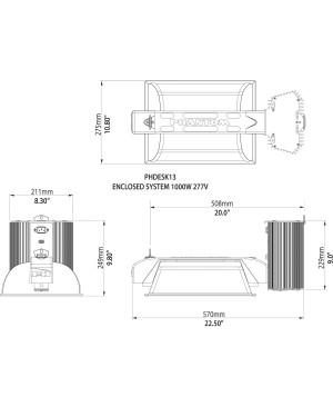 Phantom 50 Series, 1000W, 277V DE Enclosed System